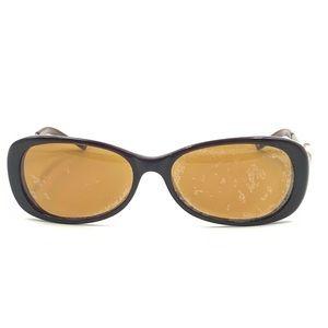 Anne Klein Brown Oval Sunglasses Frames